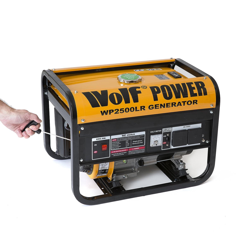 Wolf Power WP2500LR 2500 Watt 3 12KVA Petrol Powered Generator 4