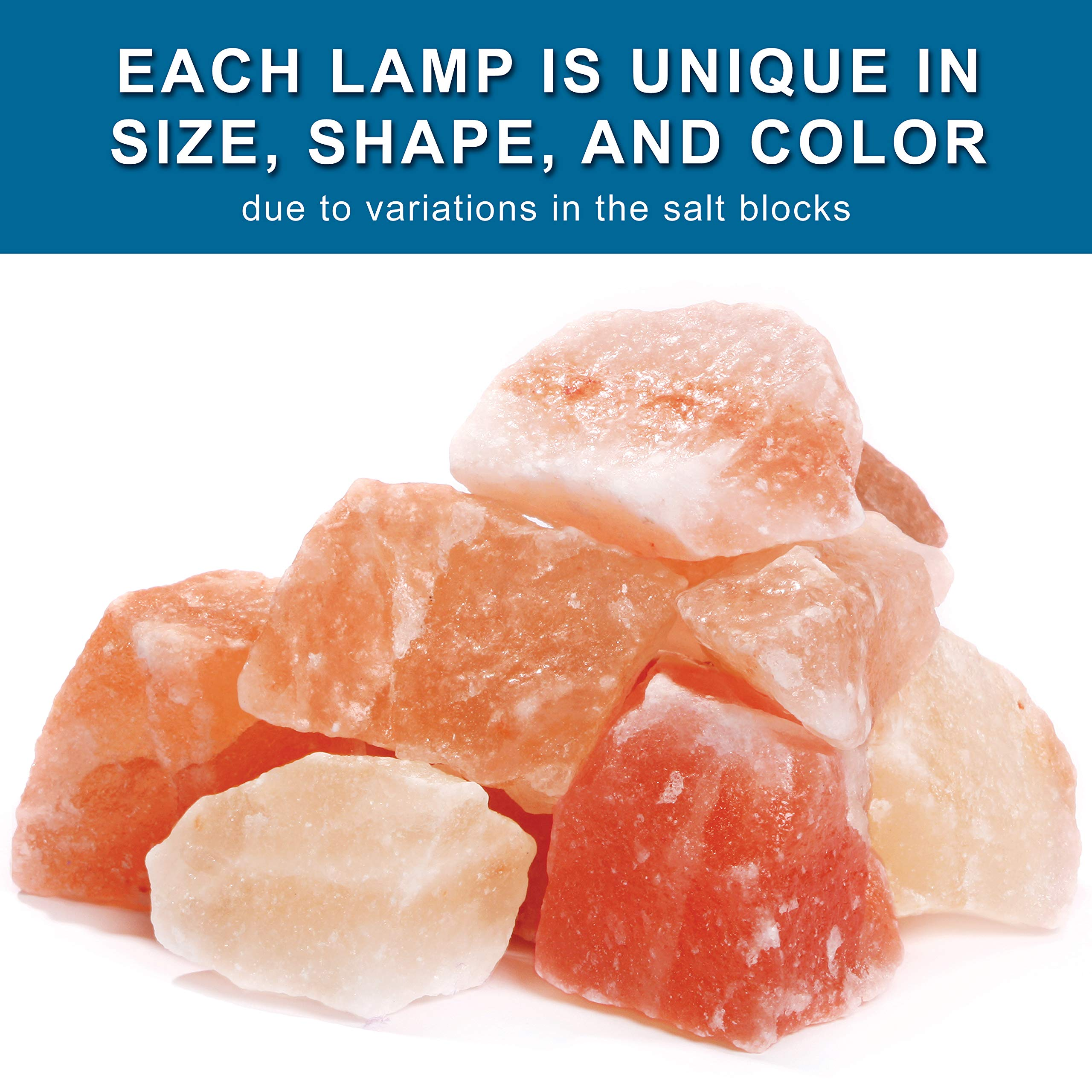 My Perfect Nights Himalayan Rock Salt Lamp Night Light Natural Hand Carved Pure Authentic Pink Salt Crystals from Pakistan use in Bedroom Family Room Hallway Office (2 Pack) by My Perfect Nights (Image #7)
