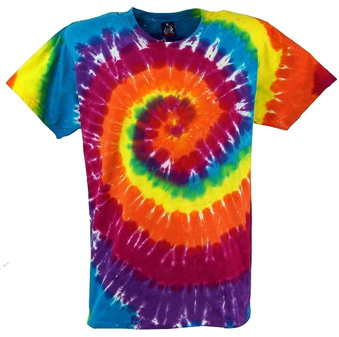 GURU-SHOP, Camiseta Rainbow Batik, Camiseta Manga Corta para Hombre, Algodón, Tie Dye T-Shirt`s: Amazon.es: Ropa y accesorios