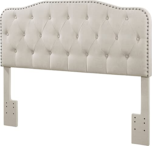 Best Quality Furniture B86 B86-HB Queen Full Size Headboard, Fog Beige