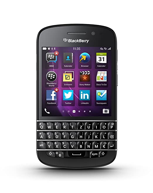 Blackberry Q10 Black 16GB Factory Unlocked, International Version - 4G / LTE 3, 7, 8, 20 (1800 / 2600 / 900 / 800 MHz) Smartphones at amazon