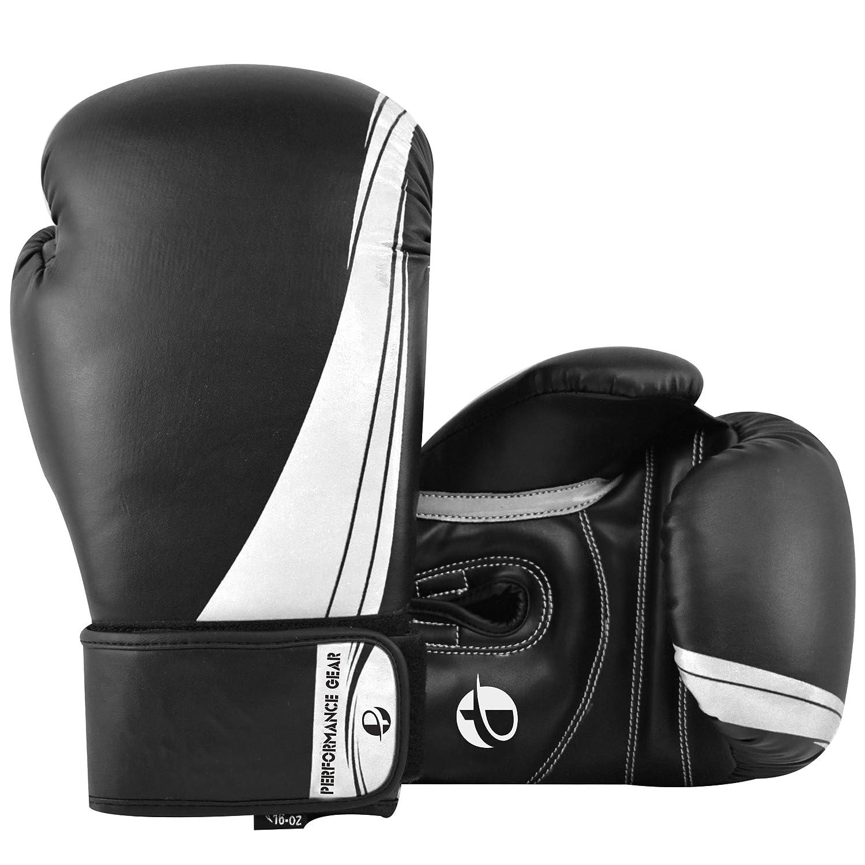 pmgボクシンググローブ ブラックホワイト 16 oz