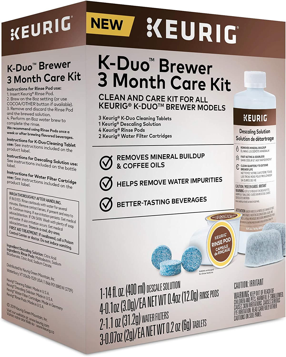 Keurig 5000351184 K-Duo 3 Month Care Brewer Maintenance Kit, Regular, None