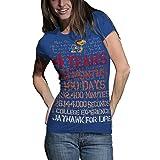 NCAA Kansas Jayhawks T.Fisher 4 Years 48 Months Vintage Junior Short Sleeve Tee Shirt