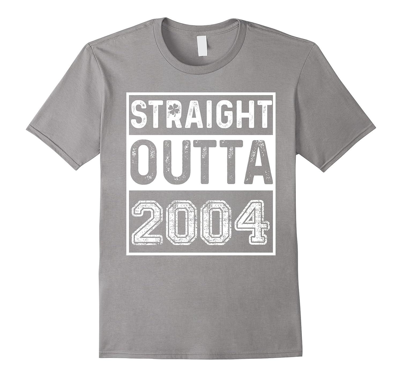 Funny 13th Birthday Gift Straight Outta 2004 T-Shirt-TD
