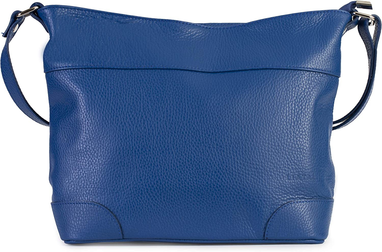 JANE LIATALIA Womens Genuine Italian Leather Medium Size Hobo Shoulder Handbag