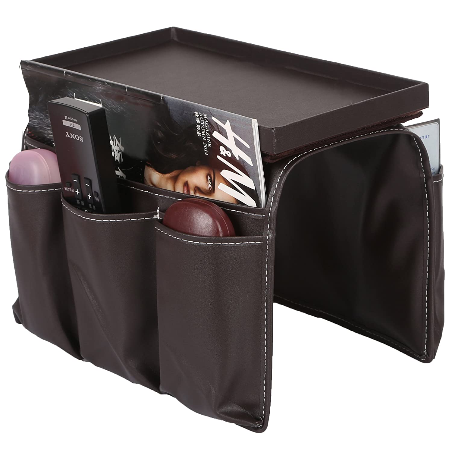 Sofa Couch Remote Control Holder Chair Armrest Caddy Pocket