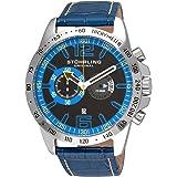 Stuhrling Original Men's 210B.3315C81 Sportsman Concorso Laureate Swiss Quartz Chronograph Leather Alligator Strap Watch