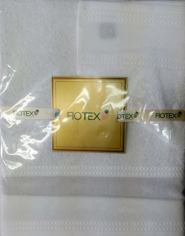 Juego de toallas Para Bordar de 450grs/m2, 100% Algodón Blanco: Amazon.es: Hogar