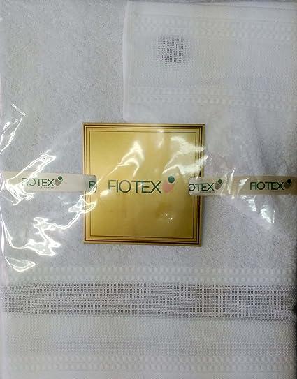 Juego de toallas Para Bordar de 450grs/m2, 100% Algodón Blanco