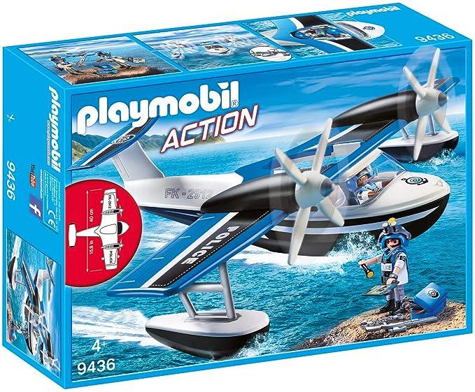 Amazon.com: PLAYMOBIL Police Seaplane: Toys & Games