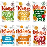 Whisps Cheese Crisps | Keto Snack, Gluten Free, Sugar Free, Low Carb, High Protein | 2.12oz (Pack of 6 (2.12OZ)), Set of 2