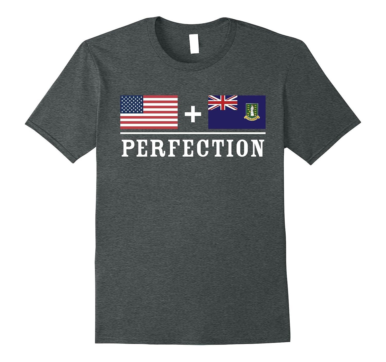 American  UK Virgin Islander  Perfection Flag T-Shirt