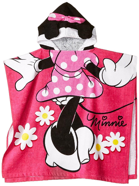 "Disney Minnie Mouse 22"" x 22"" Hooded Poncho Bath/Beach Towel"