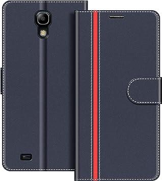 COODIO Funda Samsung Galaxy S4 Mini con Tapa, Funda Movil Samsung S4 Mini, Funda Libro Galaxy S4 Mini Carcasa Magnético Funda para Samsung Galaxy S4 Mini, Azul Oscuro/Rojo: Amazon.es: Electrónica