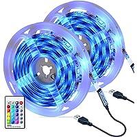 Tiras LED 6M, OMERIL Impermeable Tira LED USB