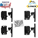 Camp'N - 4 Pack - Push Catch - Latch - Grabber - Holder for RV Cabinet Doors with Mounting Hardware - 5 lbs Pull Force - Perf