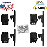 Camp'N - 4 Pack - Push Catch - Latch - Grabber - Holder for RV Cabinet Doors with Mounting Hardware - 5 lbs Pull Force…