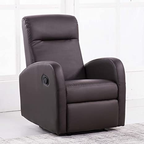 Sillón relax reclinable modelo Home color chocolate - Sedutahome