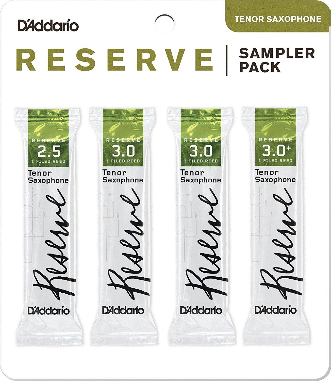 D'Addario Woodwinds DRS-K25 Reserve Tenor Saxophone Reed Sampler Pack, 2.5/3.0/3.0+