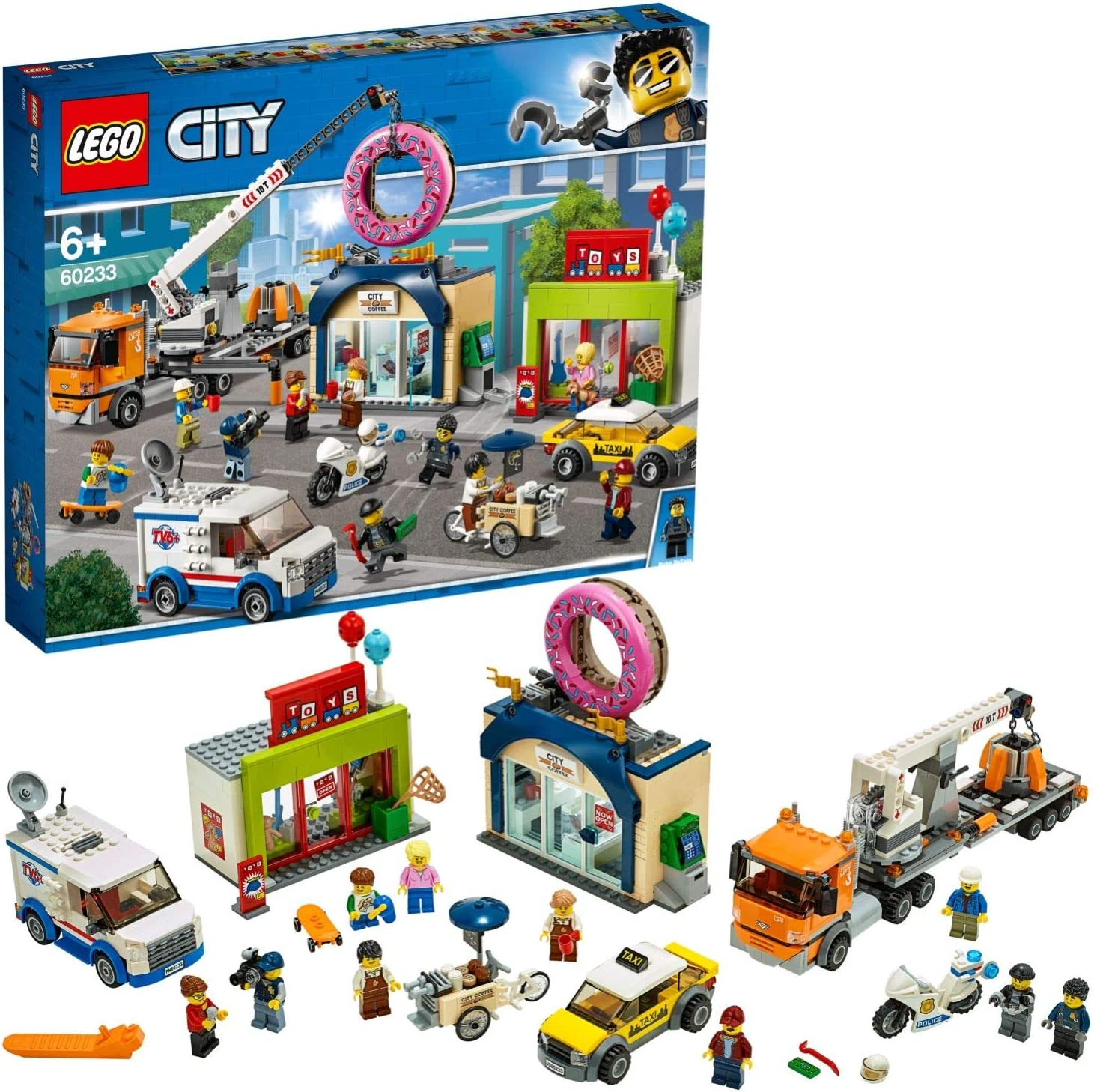 LEGO® City Town Minifigur Großmutter mit Kaffee aus dem Set 60234