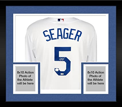 6e3c9b4b8 Framed Corey Seager Los Angeles Dodgers Autographed White Replica Jersey -  Fanatics Authentic Certified at Amazon s Sports Collectibles Store