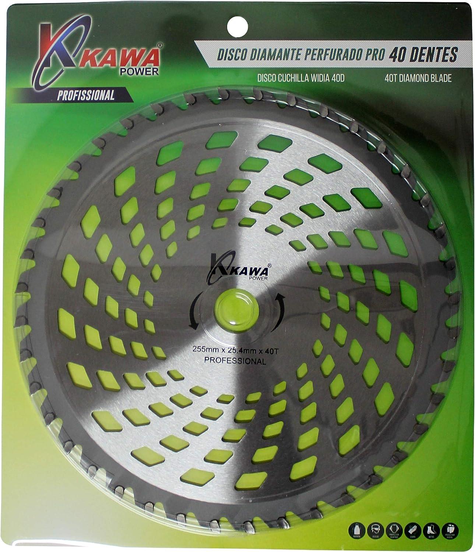 Kawapower KW00541 Disco cuchilla de Widia PRO con 40 puntas para ...