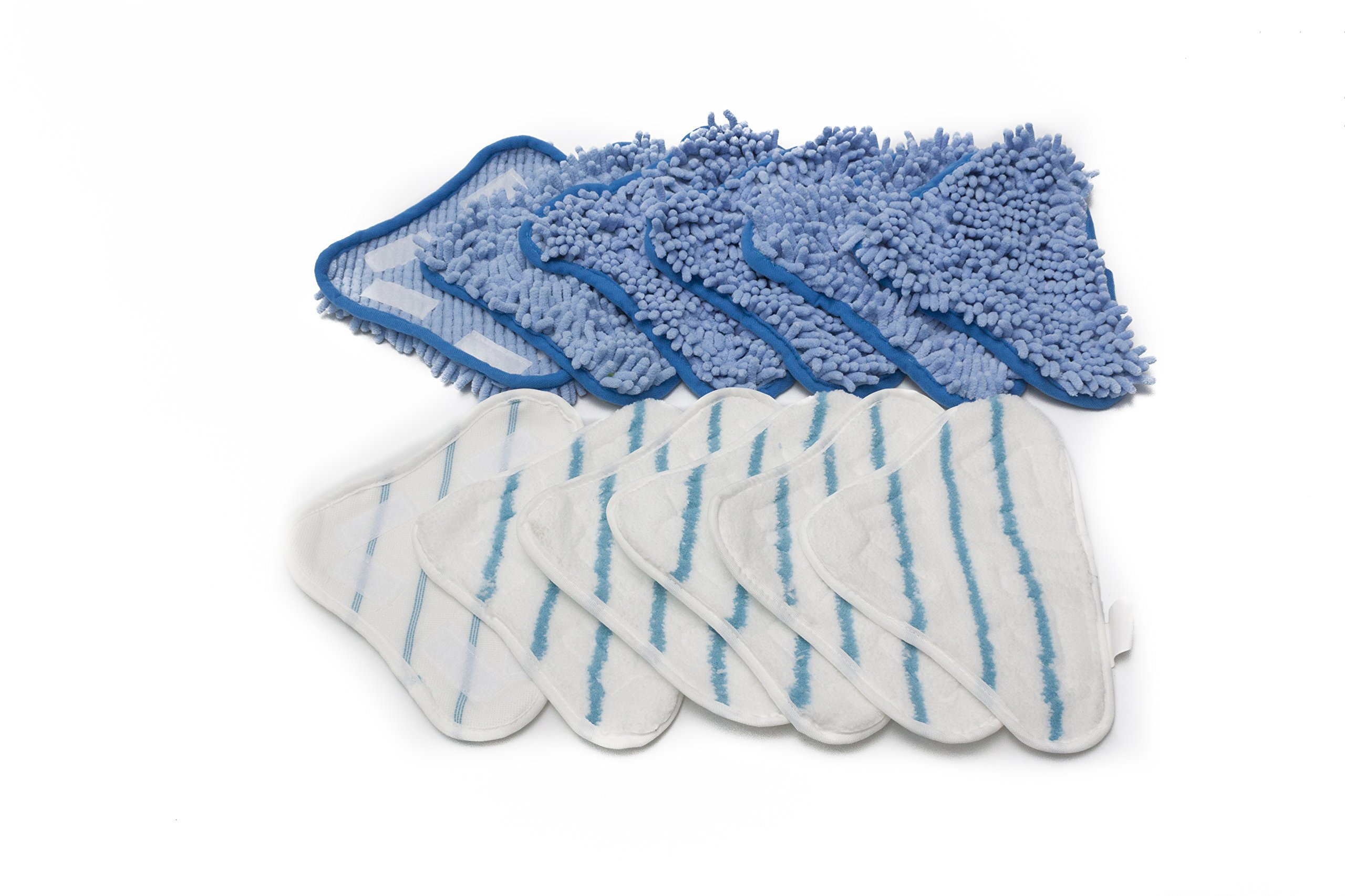 LTWHOME Replacement Microfiber Mop Pads and Coral Pads Set Fit For H2O Steam Mop X5 (Pack of 12) by LTWHOME (Image #1)