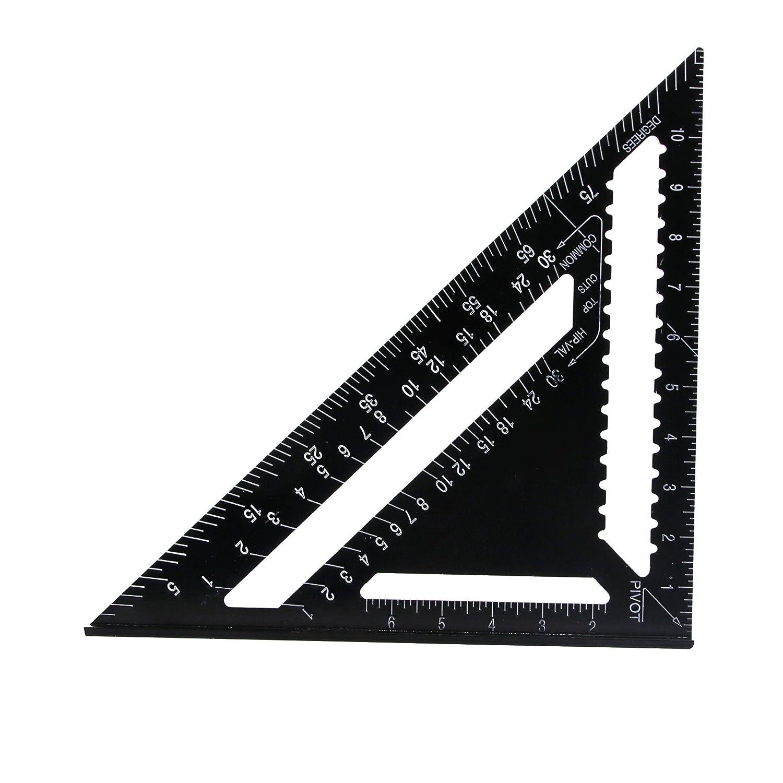 É querre Suyizn de 30, 5 cm en alliage d'aluminium noir avec rapporteur 5 cm en alliage d' aluminium noir avec rapporteur SUZYIZN