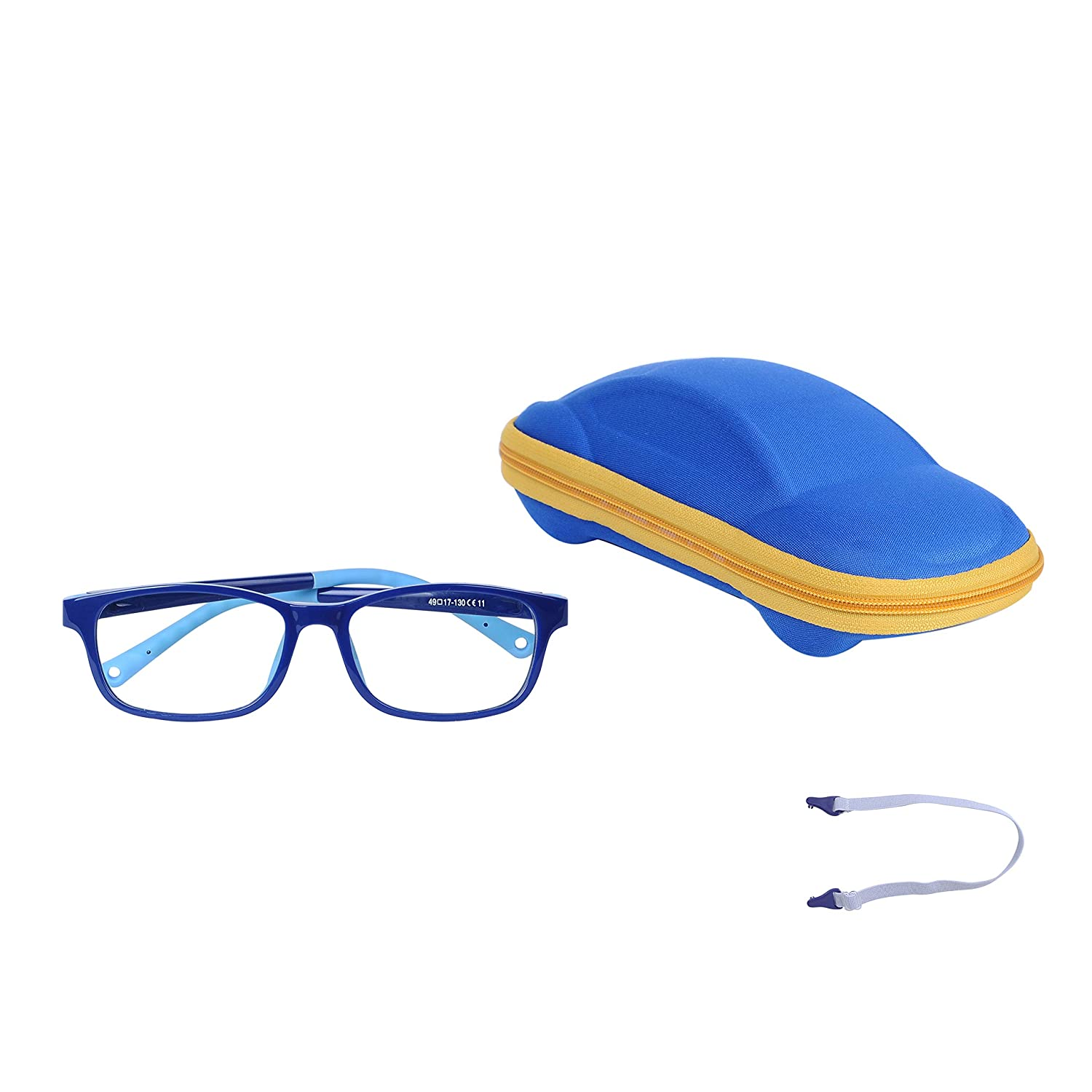 Case Cleaning Cloth Kids Computer Glasses Anti Blue Light Boys Girls Adjustable Strap Anti Slip Design