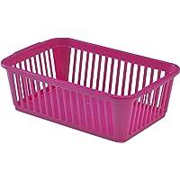 Whitefurze–Cestas de, plástico, rosa, 25cm