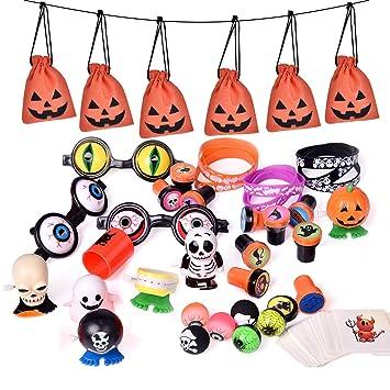 Amazon.com: Bolsas de Halloween, con 72 accesorios, ideales ...