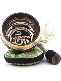 Silent Mind ~ Tibetan Singing Bowl Set ~ Balance & Harmony Design ~ With Dual Surface Mallet and Silk Cushion ~ Promotes...