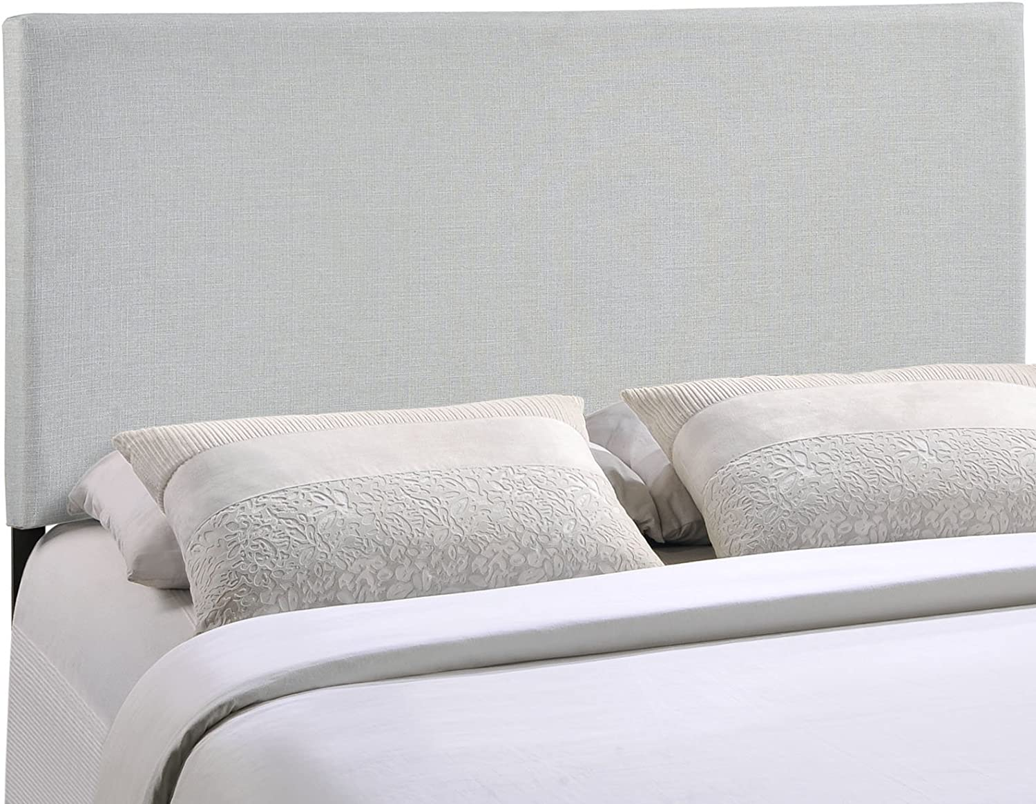 Modway Region Linen Fabric Upholstered Queen Headboard in Gray