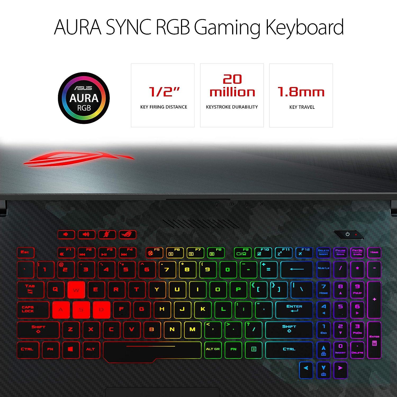 "Asus ROG Strix Scar II Gaming Laptop, 17 3"" 144Hz IPS-Type FHD, NVIDIA  GeForce RTX 2070 8GB, Intel Core i7-8750H Processor, 16GB DDR4 RAM, 512GB"