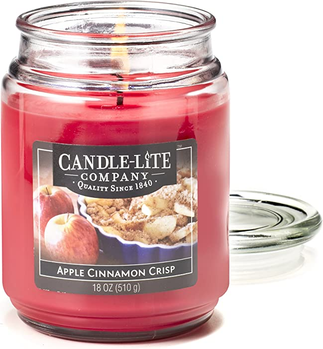 CANDLE-LITE Essentials 18-Ounce Apple Cinnamon Crisp Terrace Jar Candle
