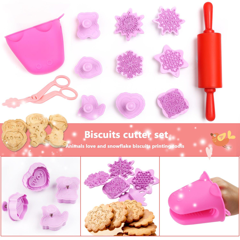 Details About Kids Cooking Baking Set Baking Supplies Cupcake Decorating Kit 40 Pcs Include