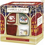 Yankee Candle Official Christmas 2015 Festive Gift Set Includes 3 Votives & Holder