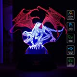SAVFY Lampade Illusion 3D, Tre Modi di Effetti si Accendono con Alimentatore USB, Perfetto per il Regalo di Compleanno e di Natale