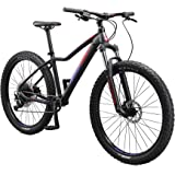 Mongoose Tyax Comp, Sport, and Expert Adult Mountain Bike, 27.5-29-Inch Wheels, Tectonic T2 Aluminum Frame, Rigid Hardtail, H