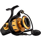 Penn Spinfisher VI Spinning Fishing Reel, Black Gold, 6500