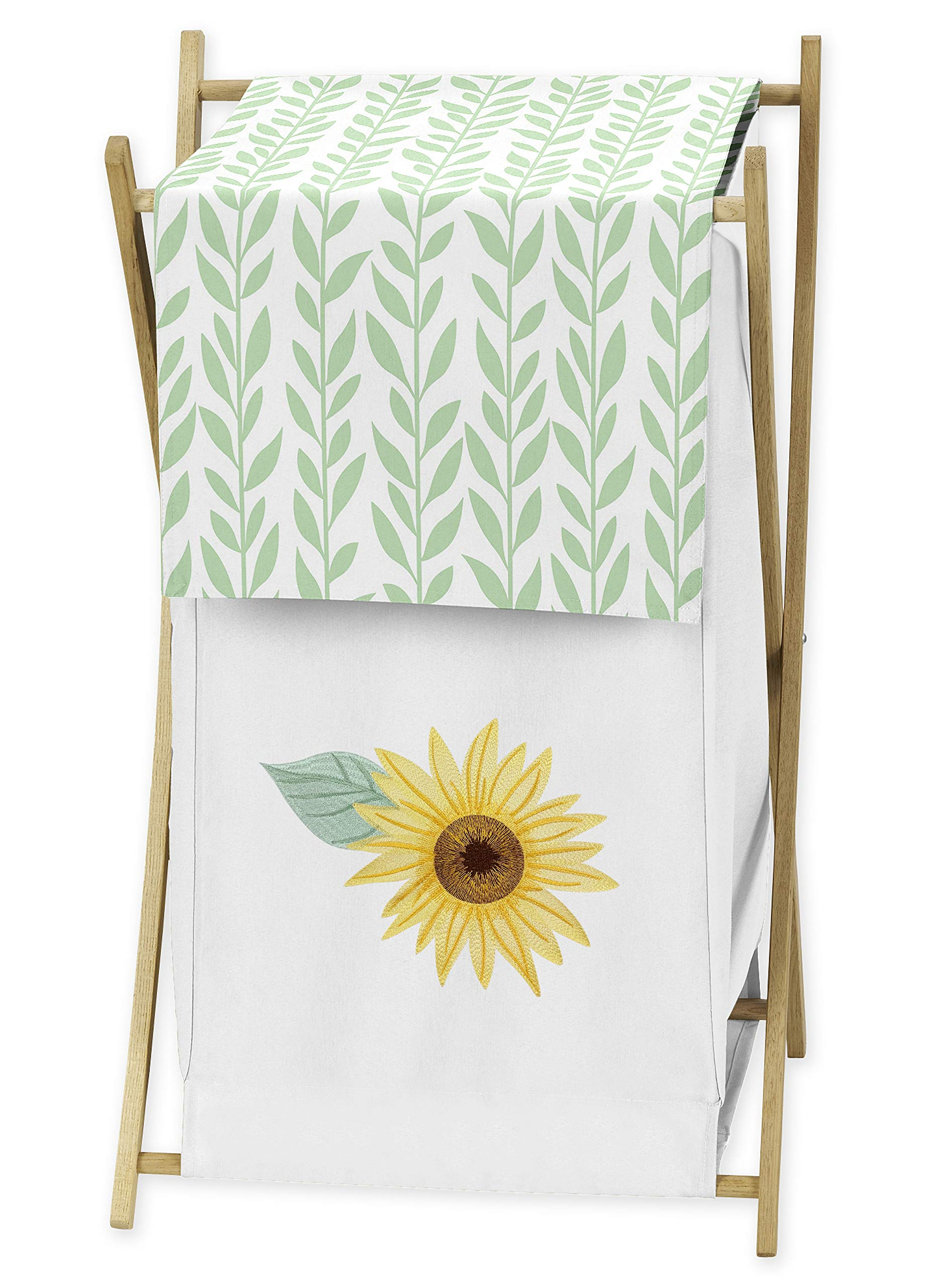 Sweet Jojo Designs Baby Kid Clothes Laundry Hamper, Farmhouse Watercolor Flower, Yellow/Green and White Sunflower Boho Floral by Sweet Jojo Designs