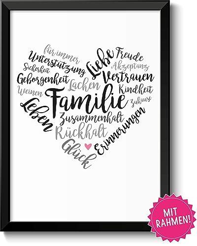 Familie Geschenkidee Eltern Bild Im Rahmen Geschenk Hochzeitstag