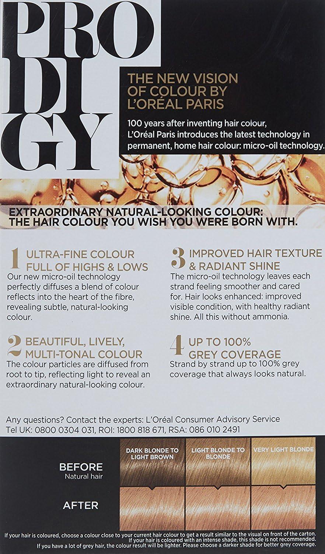 L Oréal Prodigy 8.34 puesta de sol Natural Medium Golden ...