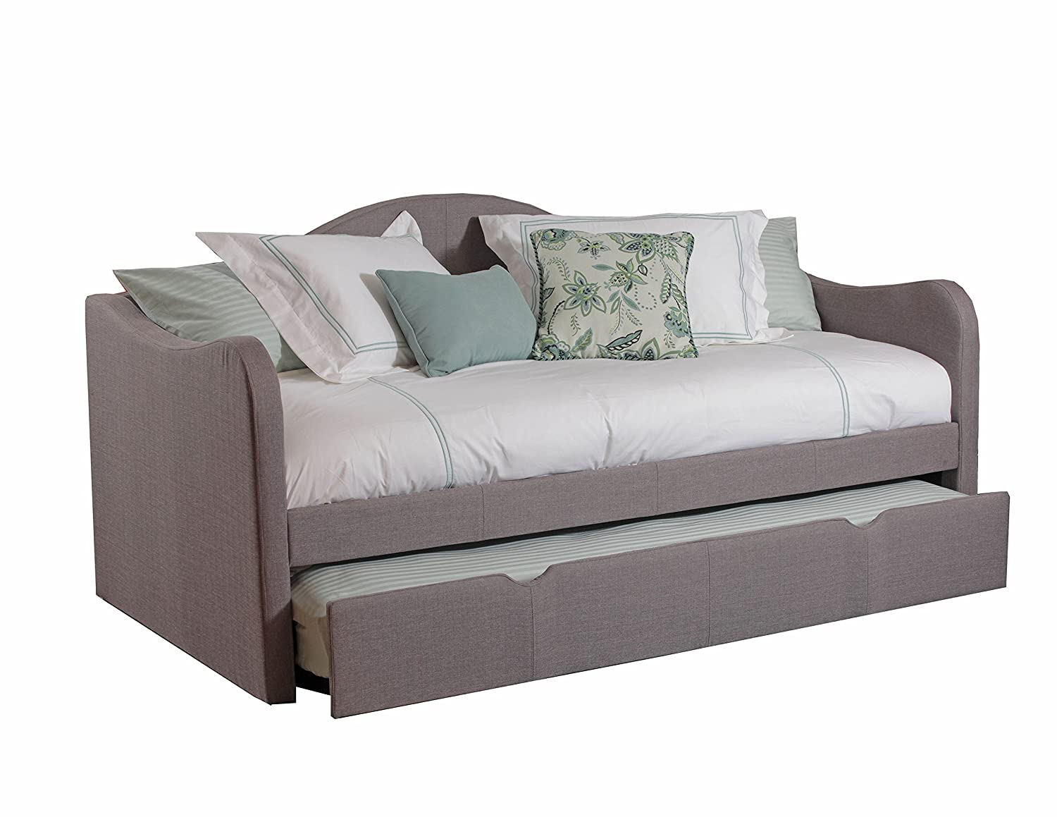 . amazoncom powell s upholstered day bed twin kitchen  dining