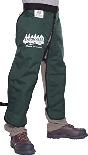 """product image for LABONVILLE Premium Chainsaw Chaps - Overall Length 40"""" - Made in USA - Green"""