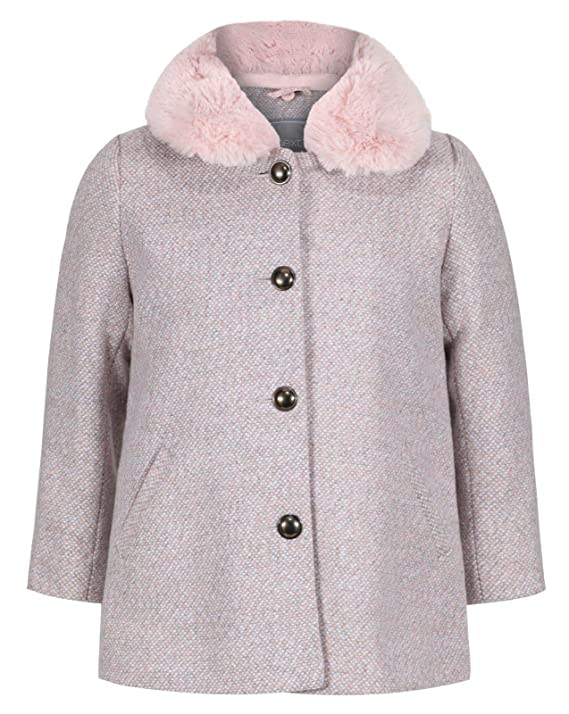 EX Next Girls Baby Toddler Jacket Coat Smart Dusty Pink Autumn 1 to 6 Years RRP £30