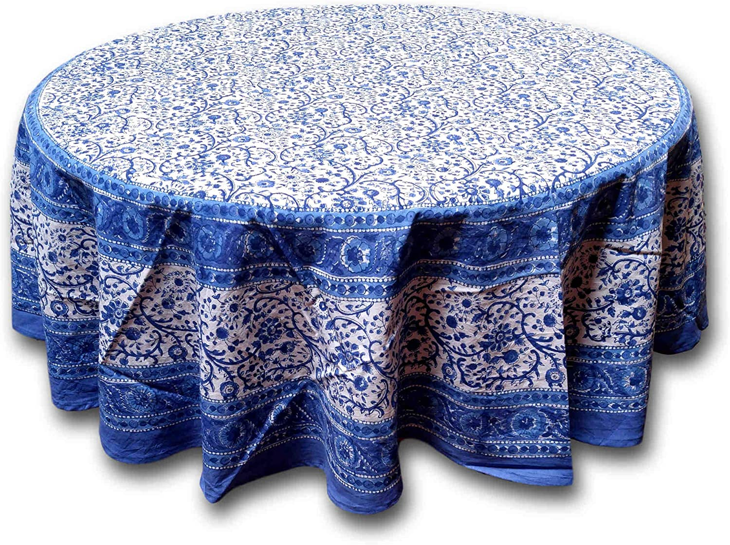 Amazon Com Rajasthan Block Print Tablecloth 72 Inch Round Posters Prints
