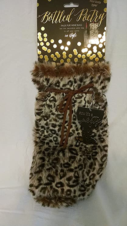 Image Unavailable. Image not available for. Color  Faux Fur Wine Bag ... 1588c14e8c