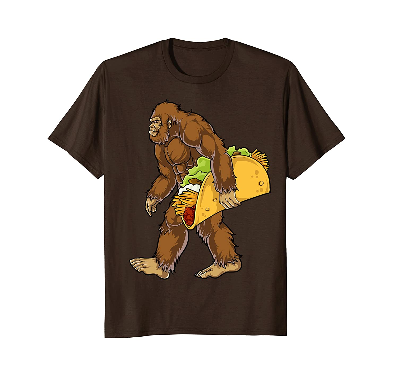 Bigfoot Carrying Taco T shirt Cinco de Mayo Boys Sasquatch-alottee gift